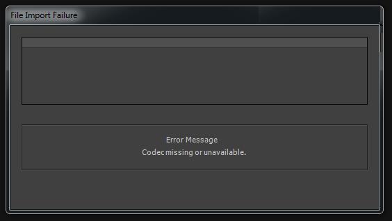 Fix Codec Missing Error