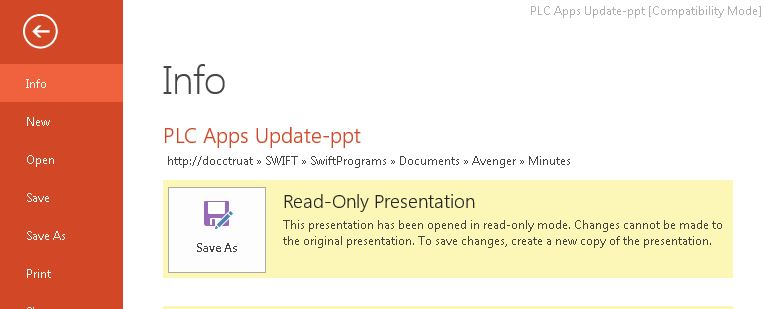 PowerPoint Cannot Save Due to Read-only Error