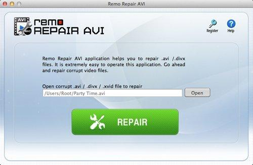 Open truncated AVI file and click Repair