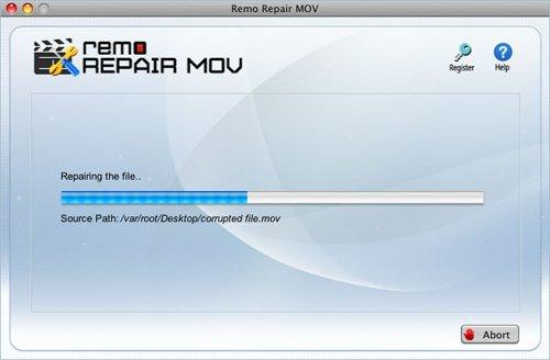 Fix Damaged MOV File Mac - View Repairing Progress