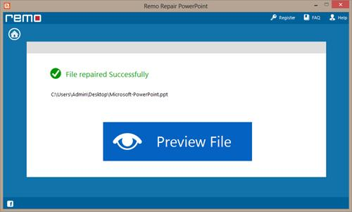 Repair Damaged PPT File - Preview Repaired File